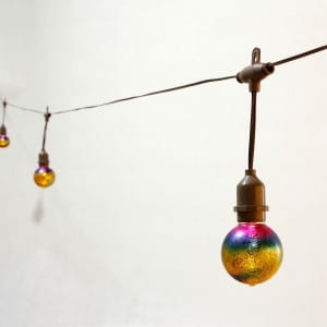 Iridescence Glass Umbrella String Lights Solar KF09063-SO