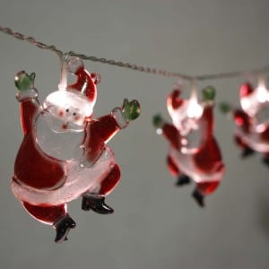 Plastic Dancing Santa Claus Style LED String Light