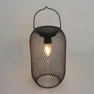 Metal Solar Wire Lantern Outdoor with Metal Handle