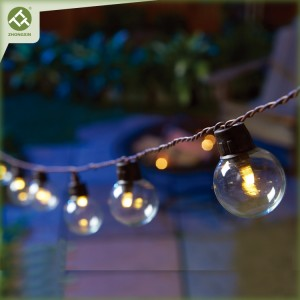 Solar LED Bulb String Light G40 Outdoor Decorative Lighting