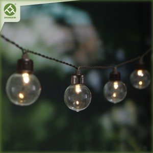 20 LED G40 Glass Bulb Solar String Light Outdoor