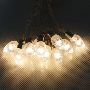 20 Light Plastic RGB LED String Light Battery Operated