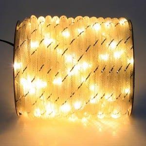 Christmas Micro Mini LED Rope Light Fabric Mesh Style KF67381
