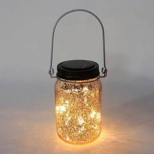 Solar Mason Jar LED Lights Metal Lid String Lights