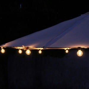 G50 Bulbs Umbrella String Lights Outdoor K41012