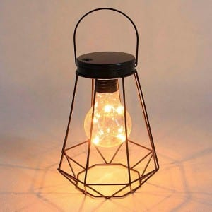 Metal Solar Lantern Hanging Decor for Garden