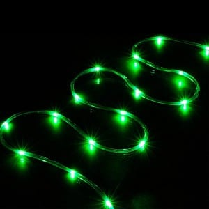 16.5FT Green LED Rope Lights Battery Operated