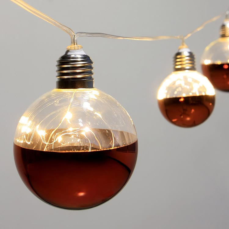 Tin-Plate String Lights With Lampshade -