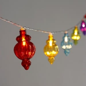 Plastic Rainbow Style Bullet LED String Light