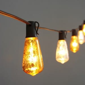 Spožs un LED Edisona spuldze String Light MYHH19042