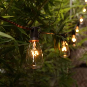 ZhongXin,7W Bulb 120V Edison Yard Light &Waterproof Solar LED Outdoor String Lights for Garden