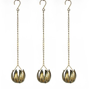 Outdoor Tea Lights Candle with Metal Lotus