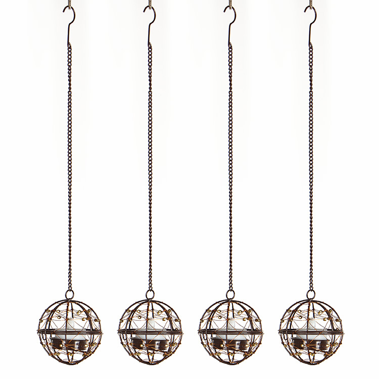3PK Hanging Solar Tea Light Holders Outdoor Featured Image