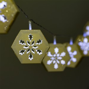 3D Paper Snowflake LED String Light Battery Operated for Christmas Decoration
