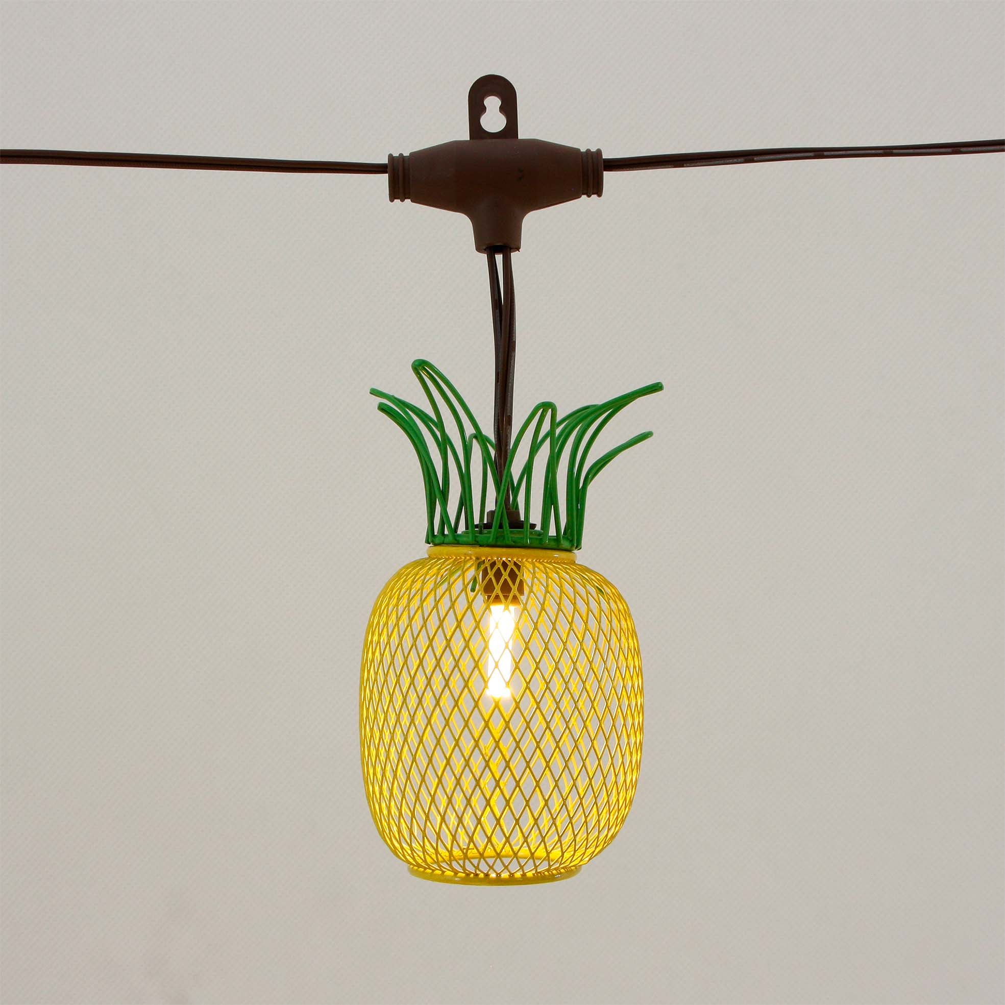 Solar Umbrella String Lights with Wire Pineapple KF09068-SO Featured Image