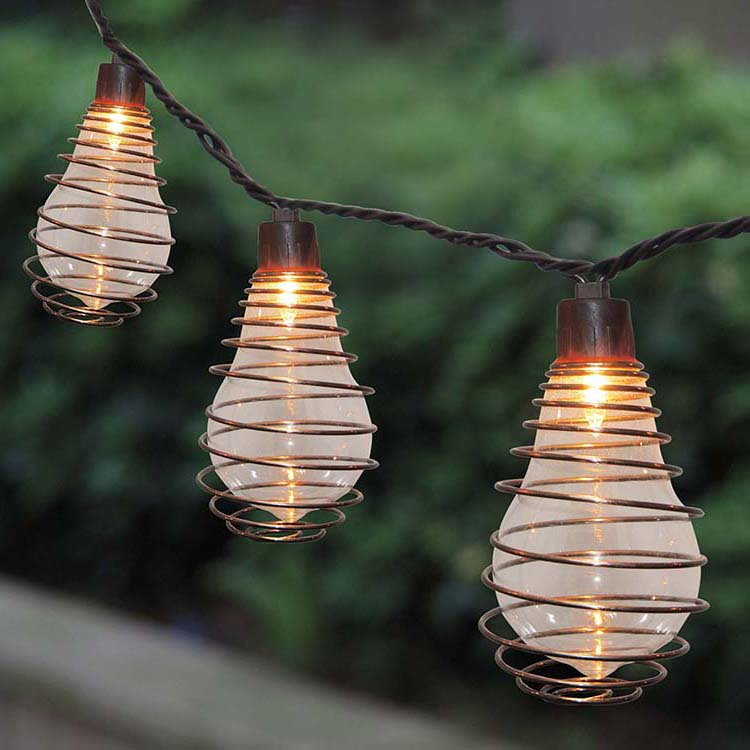 Galvalume Steel Roll Patio String Lights -