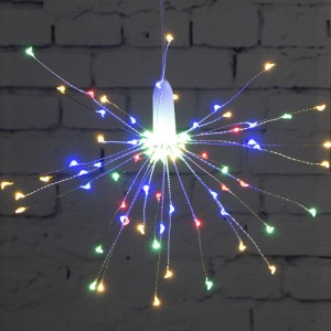 90 LED 8 Modes Dimmable Hanging Starburst Lights CHRISTMAS RGB Firework Lights