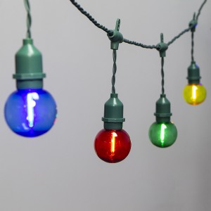 Christmas Decoration Lighting Multi Color G50 LED String Lights