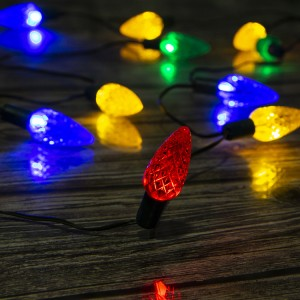 20 Count LED Multicolor Mini C6 Bulb Outdoor Christmas String Light