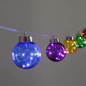 Multicolor LED Plastic G65 Bulb String Light