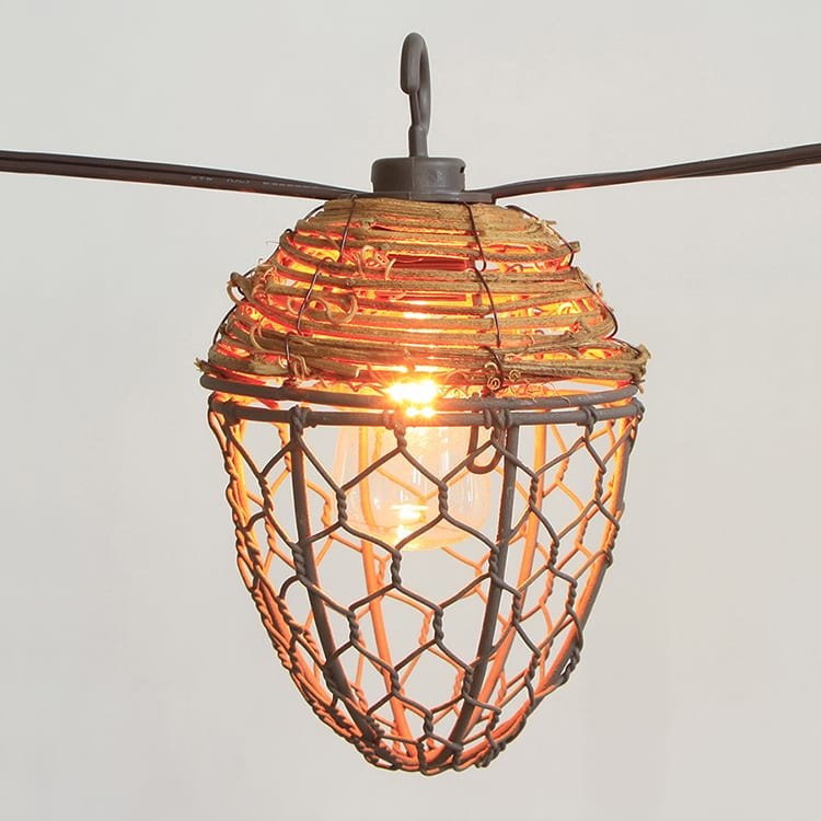 Corrugated Steel Multi Colored Led String Lights - Cafe SL- Metal Comb Shades  MYHH93125 – Zhongxin