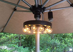 Patio Umbrella gaisma
