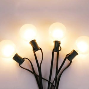 Decorative G40 Bulb String Lights for Everyday Decor