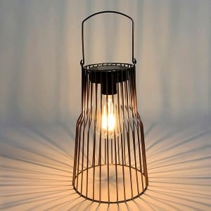 Metal Wire Solar Lantern Outdoor for Garden