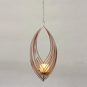 Umbrella Dangler Metal Wire Candle Holder Outdoor