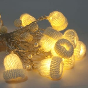 Natural Materials White Hat Battery Operated LED String light