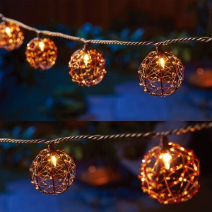 ZhongXin,Copper, Iron, Plastic and Glass Outdoor Decorative  Lights&10 Mini Bulb Decorative Led Light Bulbs