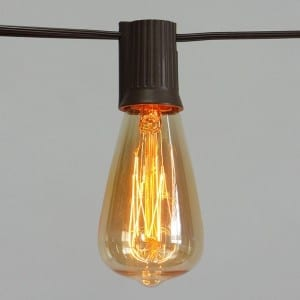 10 Count ST40 Edison Bulb Electric Vintage String Light