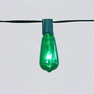 Decorative Bulb String Lights with ST40 Clear Red Bulb