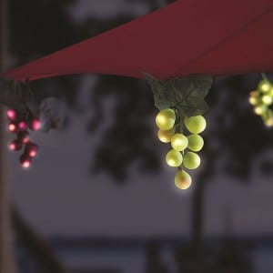 Solar Grape Lights String for Patio Umbrella