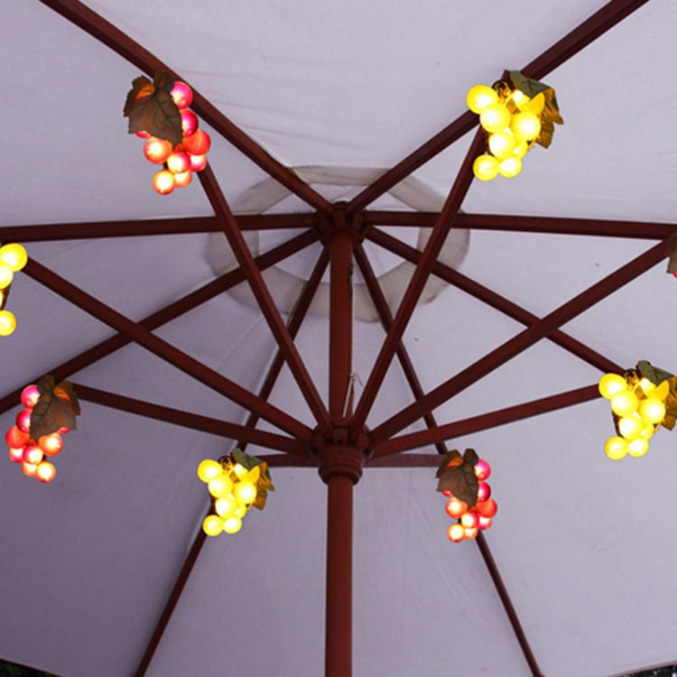 Color Coated Aluminum Steel Led Patio String Lights -