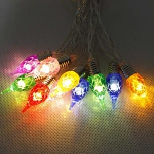 20 LED Plastic RGB Acrylic Outdoor String Light