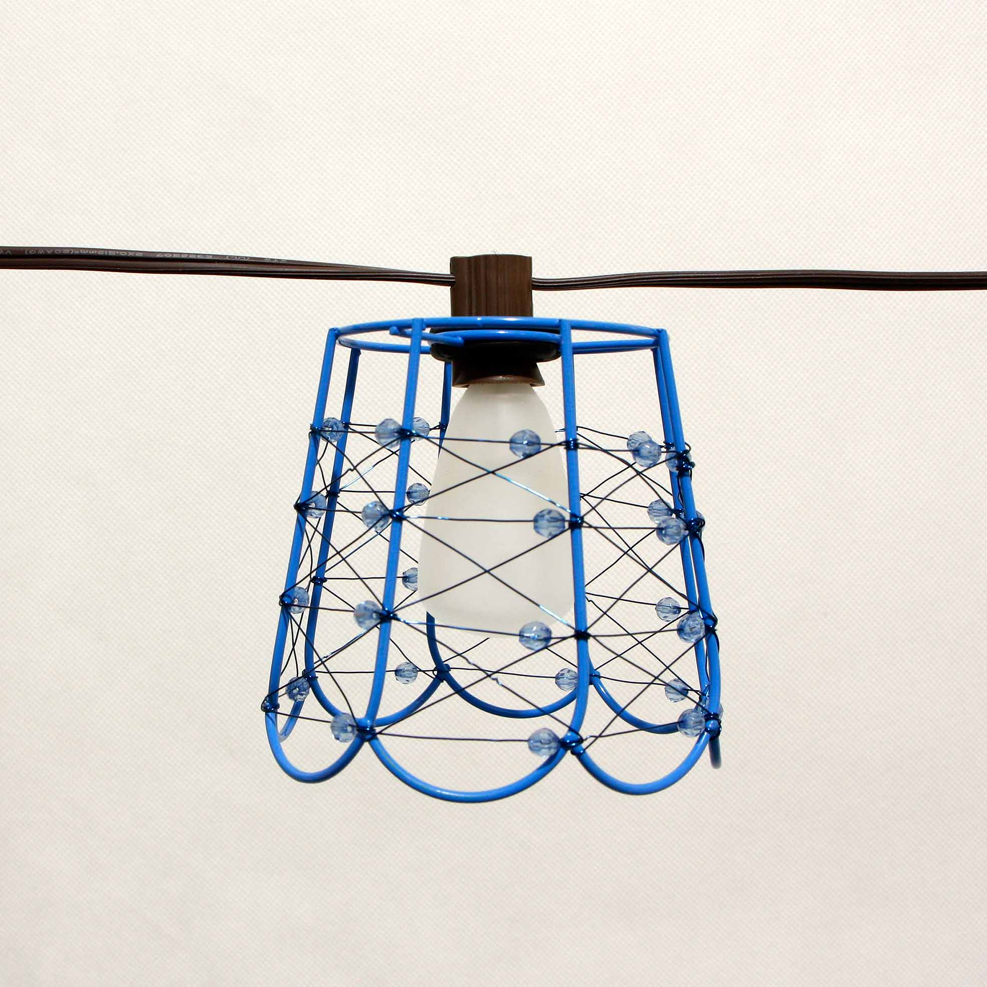 Matt Color Steel String Lights For Patio - Cafe SL- Wire Cage Shades MYHH93200 – Zhongxin