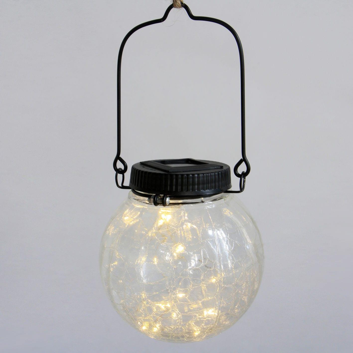 Glass Solar Lantern Fairy Lights Hanging Decor Featured Image