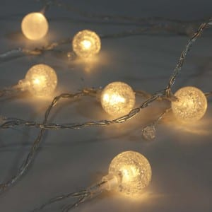 Plastic Crack Beads LED String Light Battery Operated