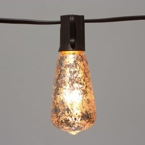ST40 Edison Bulb Decor with Foil Silver Bulbs