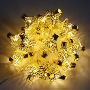 Prepainted Steel Coil String Lights With Bamboo Cover -