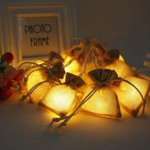 Natural Materials Sacks Style LED String Light
