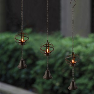 Solar LED Candle Light with Metal Wire Ball