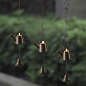 Solar Candle Lights Flicker LED Hanging Decoration