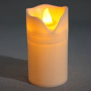 Battery LED Candle With Timer Function KF680626