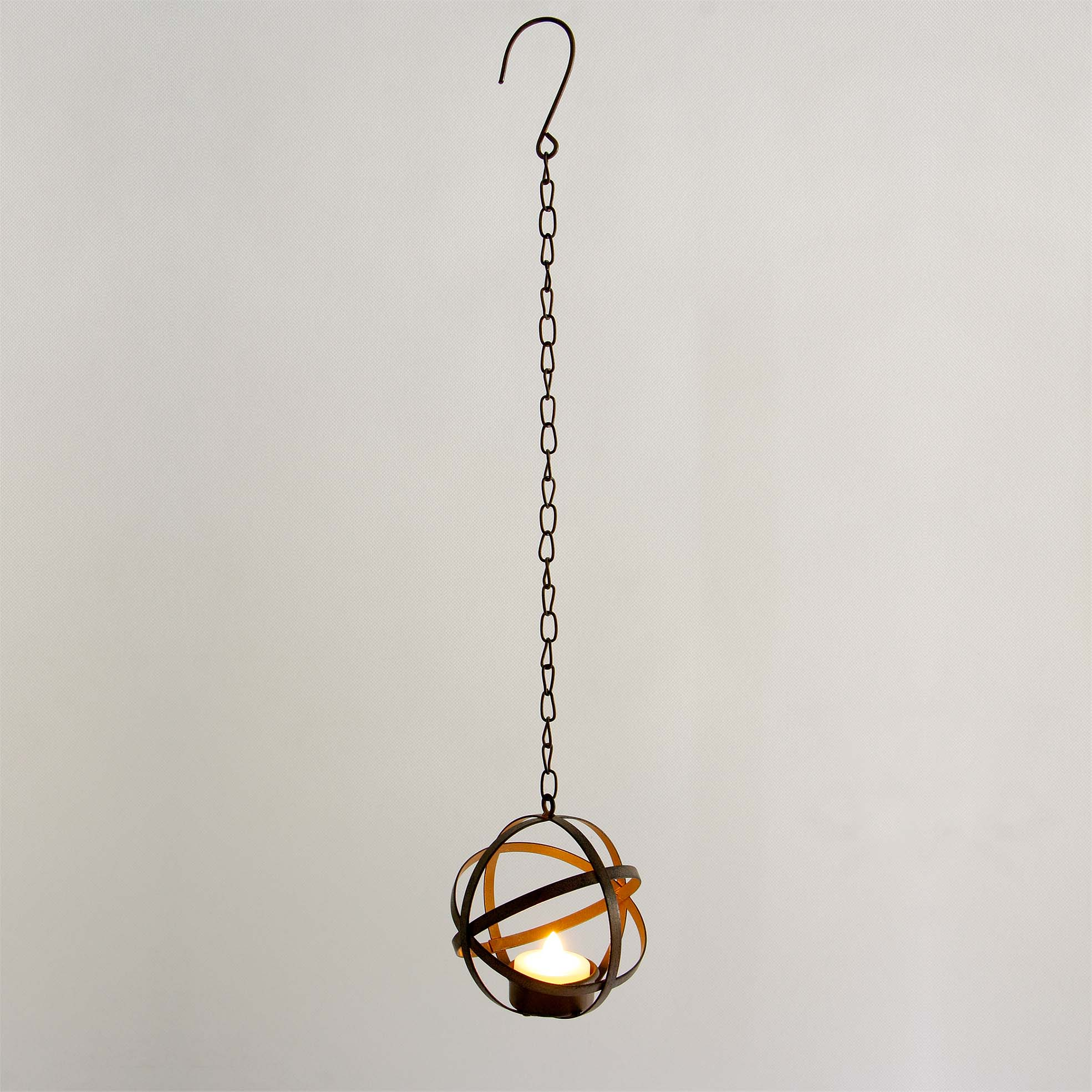 Solar Tea Light Candle with Metal Ball Holder Featured Image