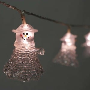 Plastic Transparent Snowman Style LED String Light