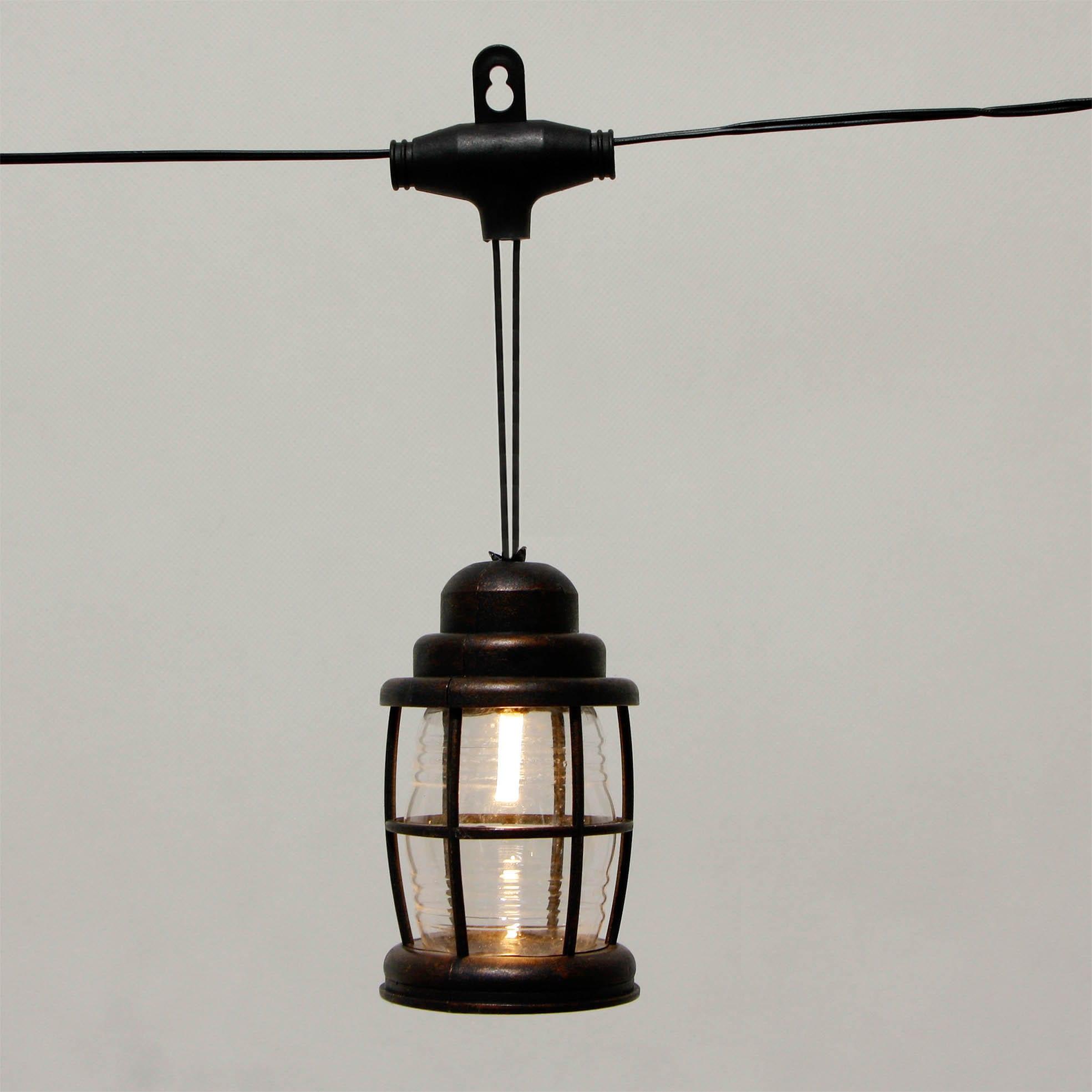 Black Lantern Cover LED Umbrella Lights Decoration KF09060-SO Featured Image