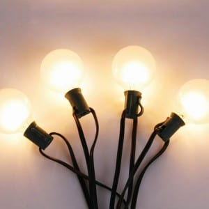 G50 Bulb String Lights with Frosted Glass Cover