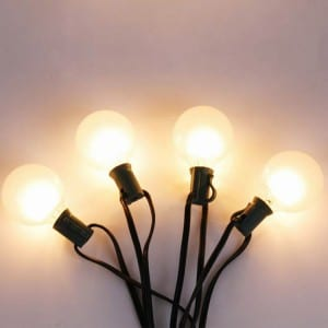 Globe String Light G50 10 Count Bulbs for Decorative Use